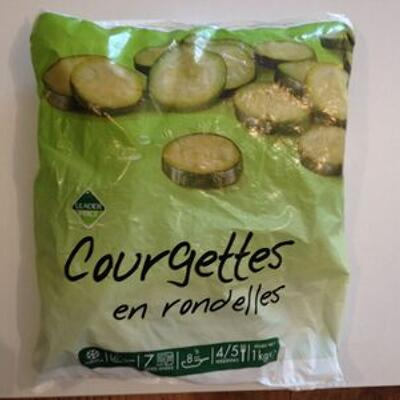 Courgettes en rondelles (Leader price)