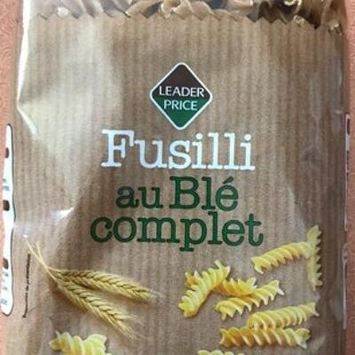 Fusilli au blé complet (Leader price)