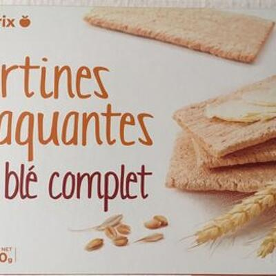 Tartines craquantes au blé complet (Franprix)