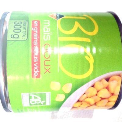 Maïs doux en grain sous vide bio (Leader price)