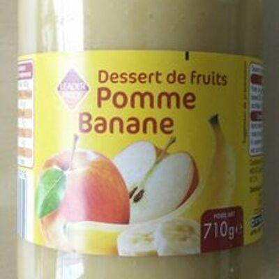 Dessert de fruit pomme banane (Leader price)