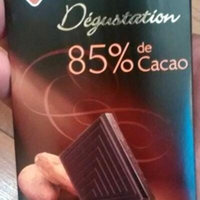 Chocolat noir dégustation 85% de cacao (Leader price)