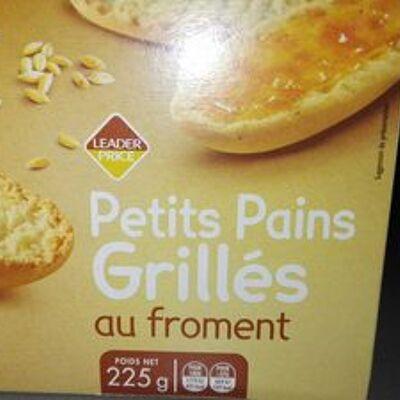Petits pains grillés au froment (Leader price)