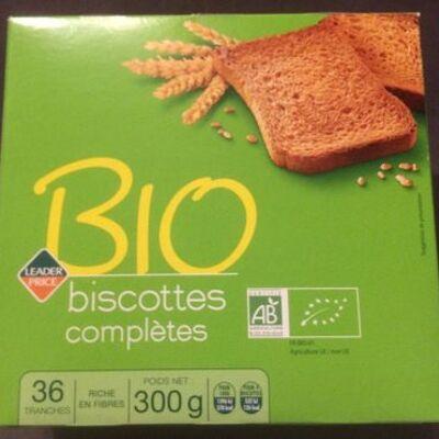 Biscottes complètes bio (Leader price)