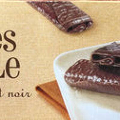 Crêpes dentelle enrobées de chocolat noir (Leader price)
