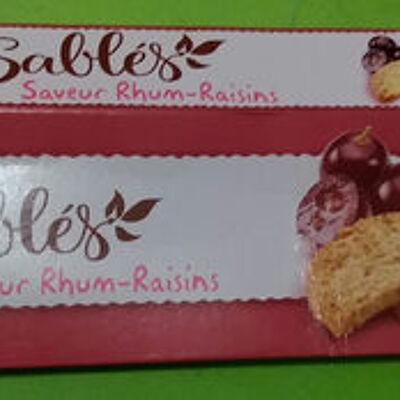 Sablés saveur rhum-raisins (Leader price)
