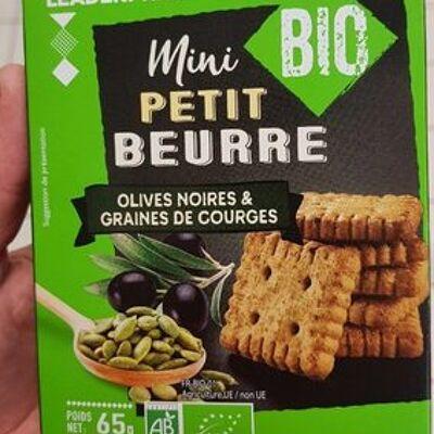 Mini petit beurre, olives noires & graines de courges (Leader price)