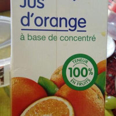 Jus d'orange à base de concentré (Le prix gagnant)