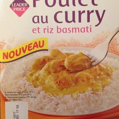Poulet au curry et riz thaï (Leader price)