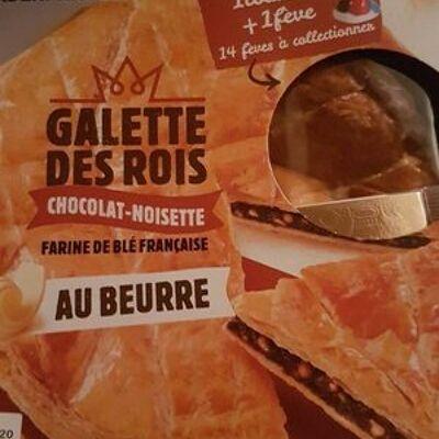 Galette des rois chocolat-noisette au beurre (Leader price)