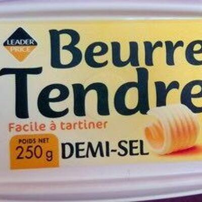 Beurre tendre demi-sel (Leader price)