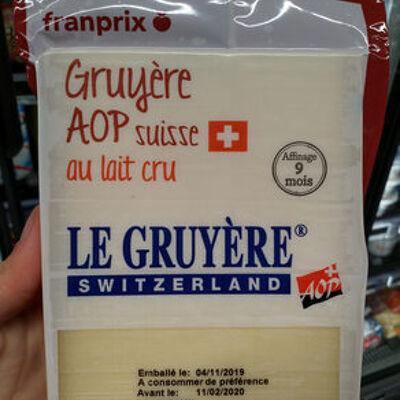Le gruyère aop switzerland (Franprix)