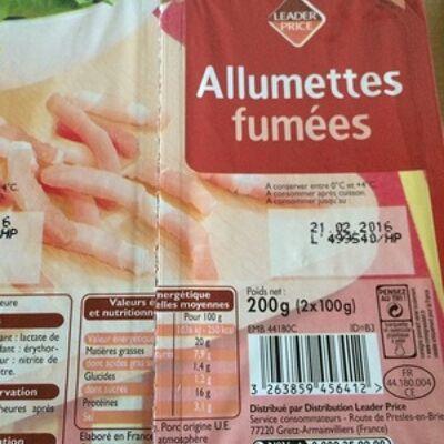 Allumettes fumées (Leader price)