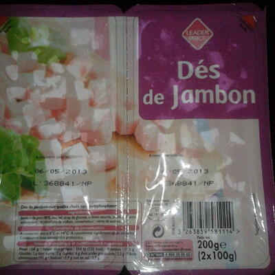 Dés de jambon (Leader price)