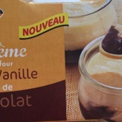 Duo de crème saveur vanille chocolat (Leader price)