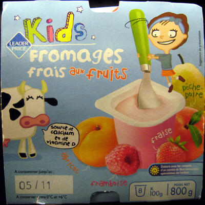 Kids fromages frais aux fruits (3,3 % mg) (Leader price kids)