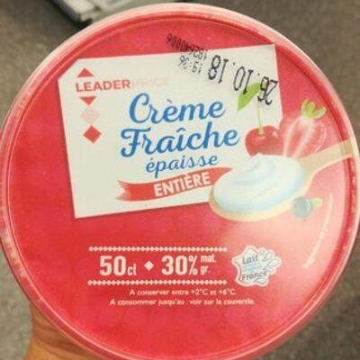 Crème fraîche épaisse (Leader price)