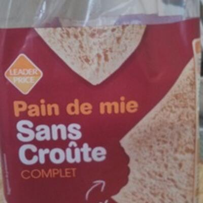 Pain de mie sans croûte (Leader price)
