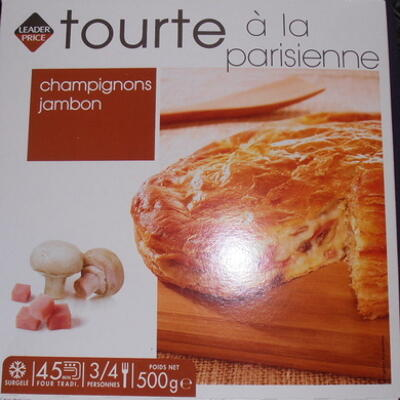 Tourte parisienne champignons de paris (Leader price)