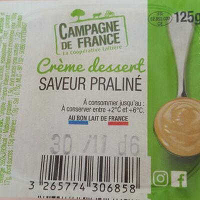 Crème dessert saveur praliné (Campagne de france)