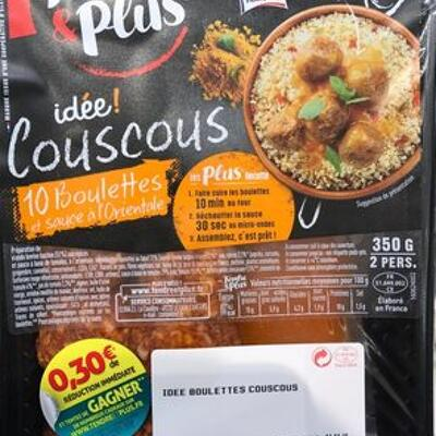 Idée! couscous 10 boulettes et sauce à l'orientale (Tendre & plus)