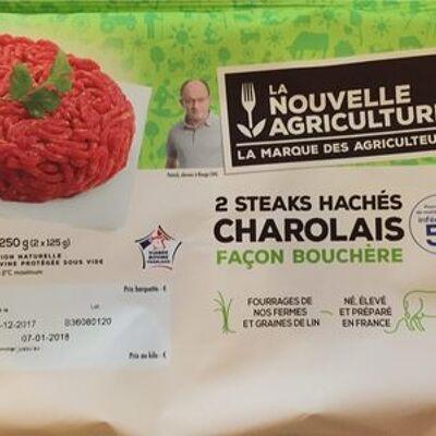 2 steaks hachés charolais (La nouvelle agriculture)