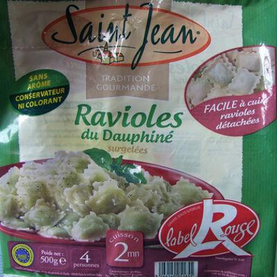 Ravioles du dauphiné aop label rouge - surgelées (Saint jean)
