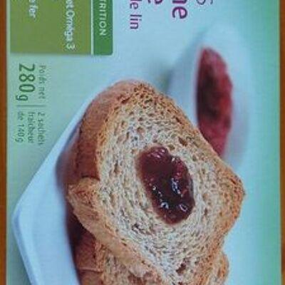Biscottes à la farine intégrale et aux graines de lin (La vie claire)