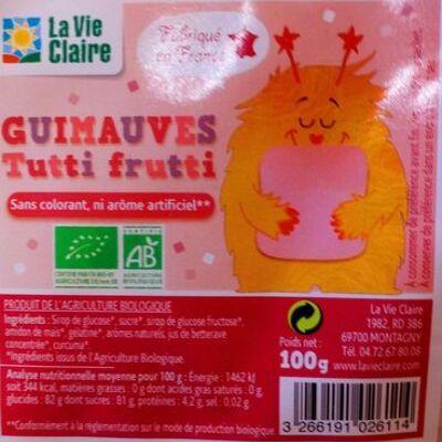 Guimauves tutti frutti (La vie claire)