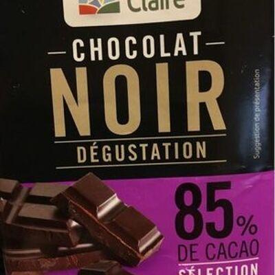 Chocolat noir dégustation 85% (La vie claire)