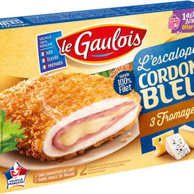 L'escalope cordon bleu 3 fromages (Le gaulois)