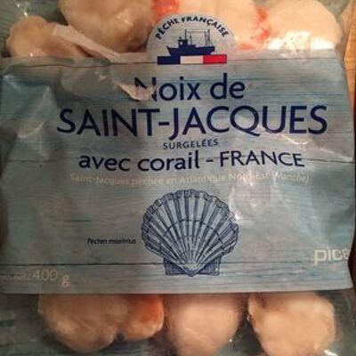 Noix de saint-jacques avec corail (Picard)