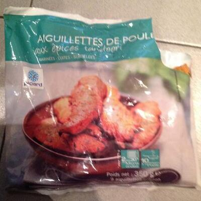 Aiguillettes de poulet aux épices tandoori (Picard)