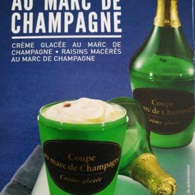 4 coupes au marc de champagne. boîte de 480 millilitres (Picard)