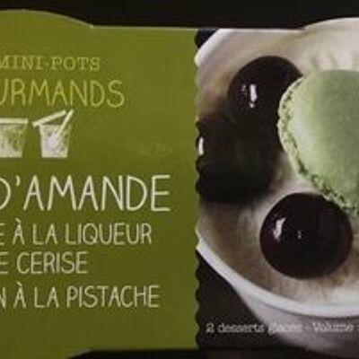 2 mini-pots crème glacée lait d'amandes et griottes, 200ml (Picard)
