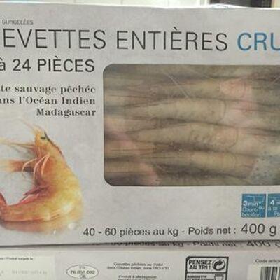 Crevettes entieres crues (Picard)