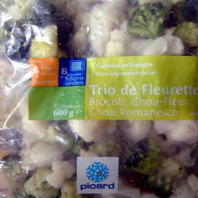 Trio de fleurettes : brocoli, chou-fleur, chou romanesco (Picard)