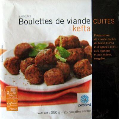 Boulettes de viande cuites kefta (Picard)