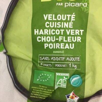 Velouté cuisiné haricot vert chiu-fleur poireau (Picard)