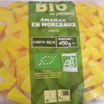 Ananas en morceaux bio surgelés (Picard)
