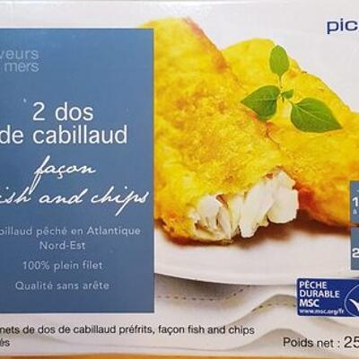 2 dos de cabillaud façon fish and chips (Picard)