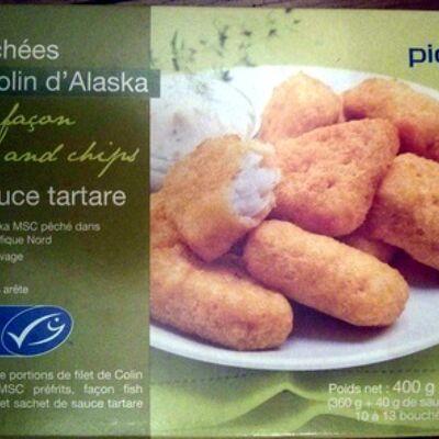 Bouchées de colin d'alaska façon fish and chips et sauce tartare (Picard)