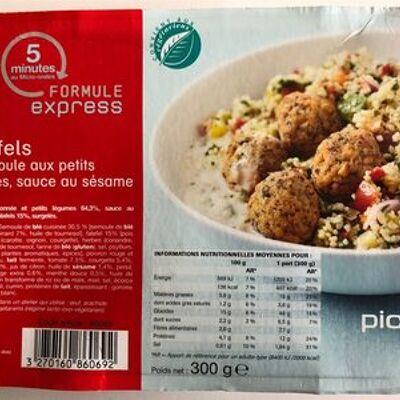 Falafels et semoule au petits légumes (Picard)