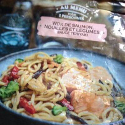 Wok de saumon nouille et légumes (Picard)