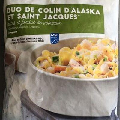 Duo de colin d'alaska et st jacques (Picard)