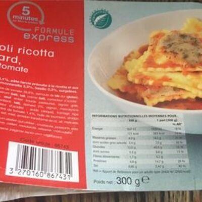 Ravioli ricotta épinard, sauce tomate (Picard)