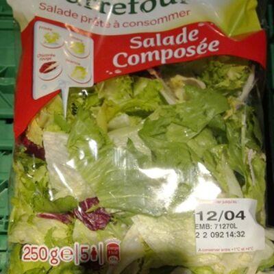 Salade prête à consommer, salade composée (5 portions) (Carrefour)