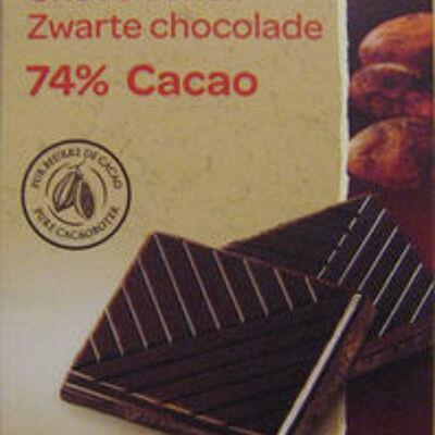Chocolat noir 74% cacao (Carrefour bio)