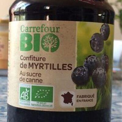 Confiture de myrtilles (Carrefour bio)