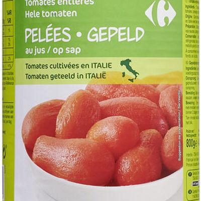 Tomates entières pelées au jus (Carrefour)